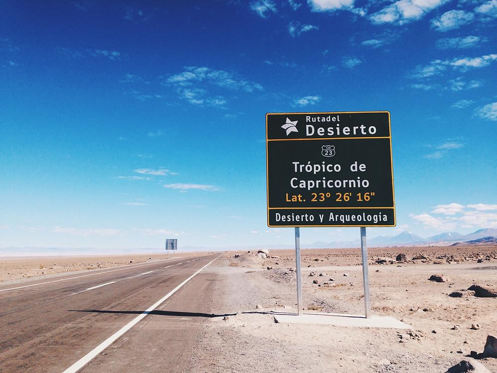 Trópico de Capricornio - Desierto de Atacama