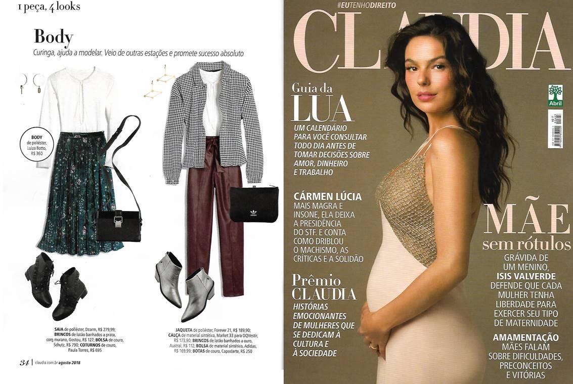 Revista Claudia Agosto de 2018