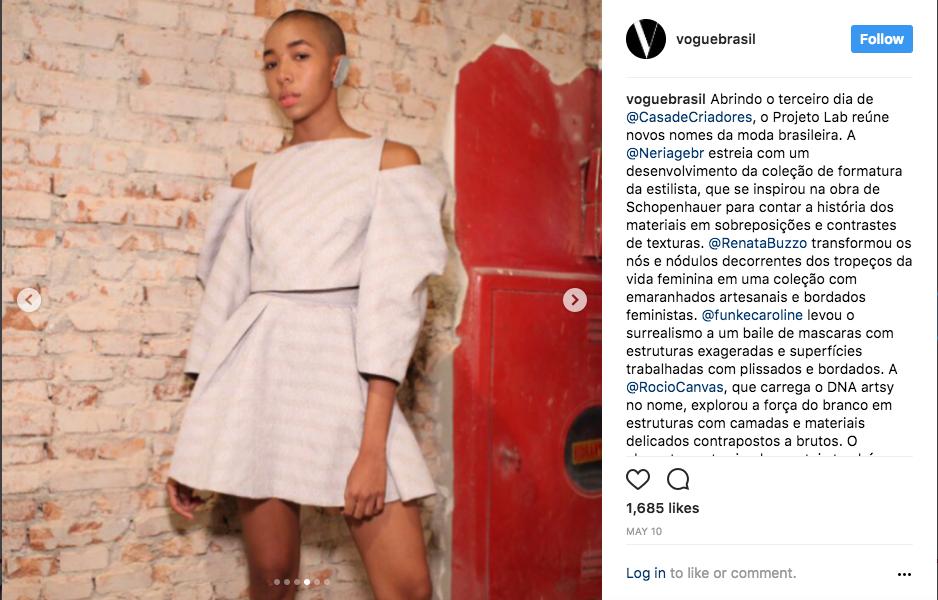 Instagram Vogue Brasil @voguebrasil