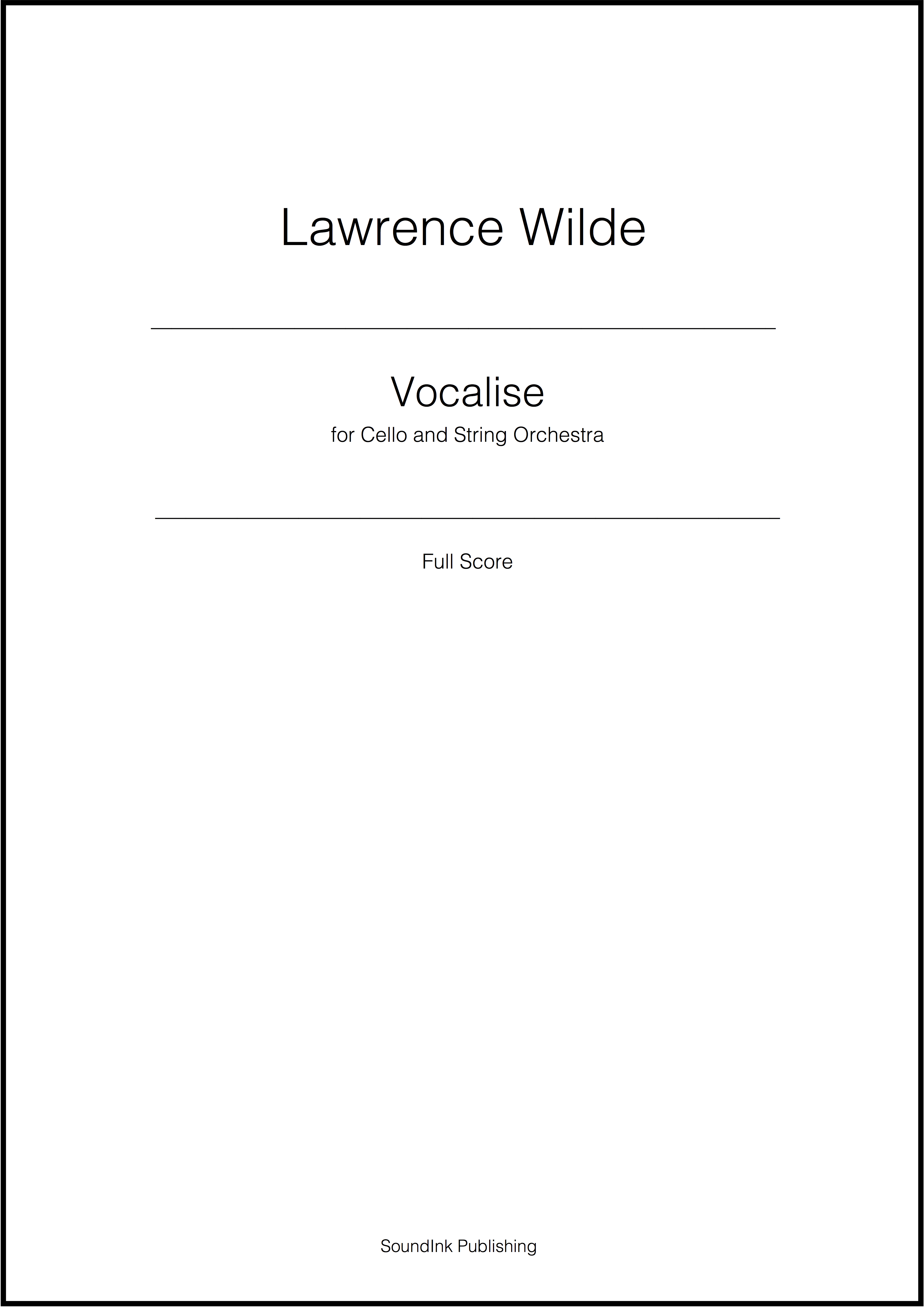 Vocalise for Cello and String Orchestra (Page 3)