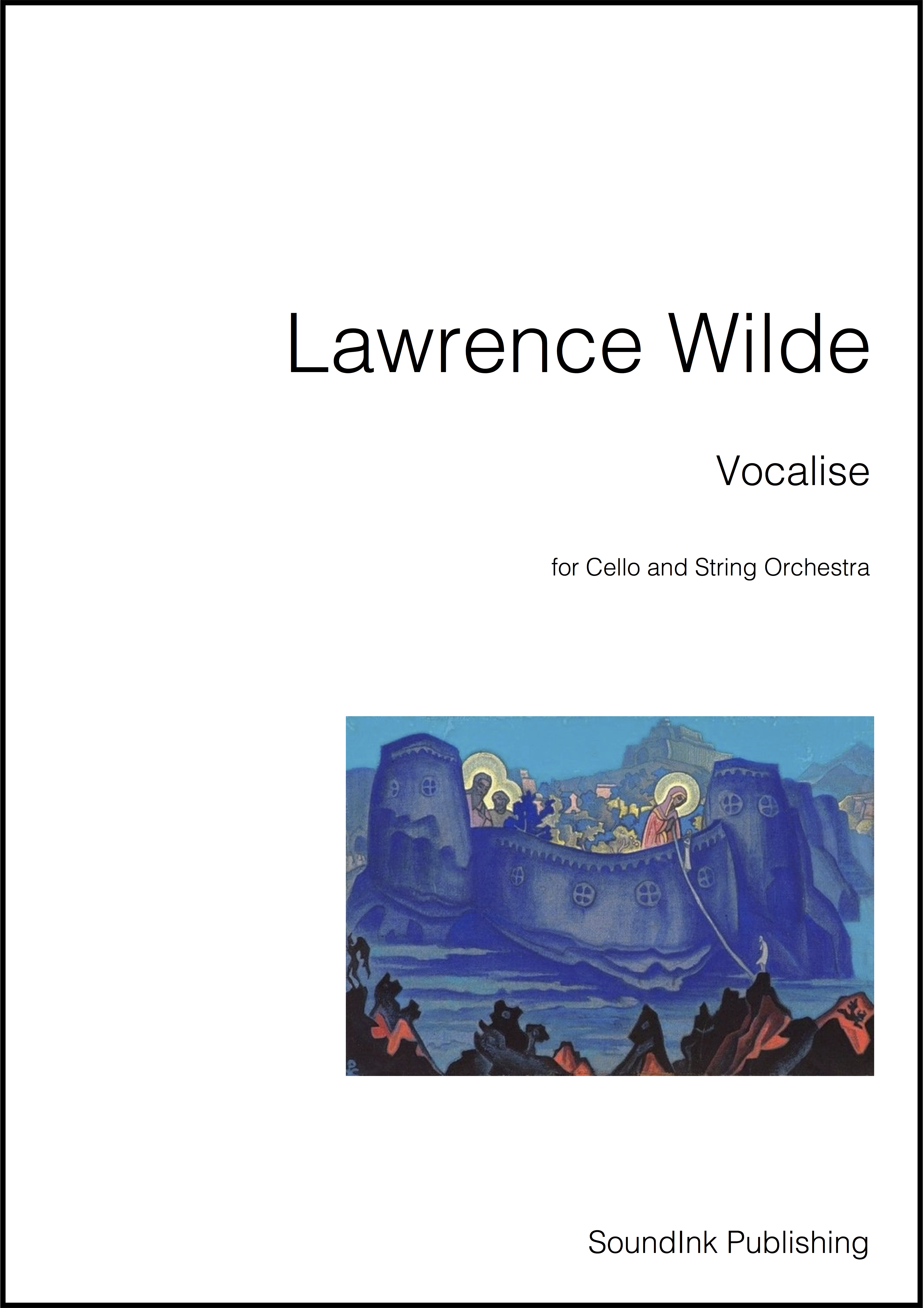 Vocalise for Cello and String Orchestra (Cover Page)