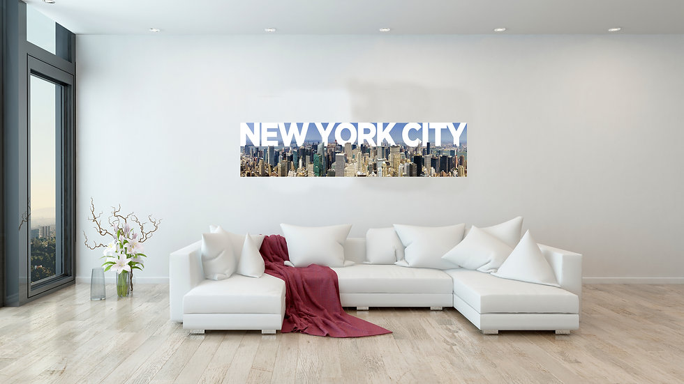 New York City Panoramic 32x8 Inches