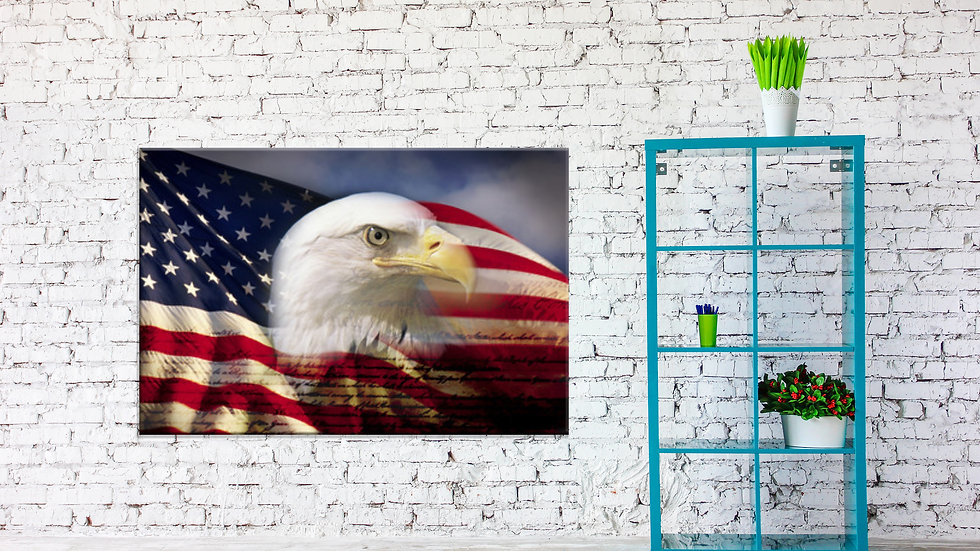 Giant American Flag Canvas 48x36 Inches