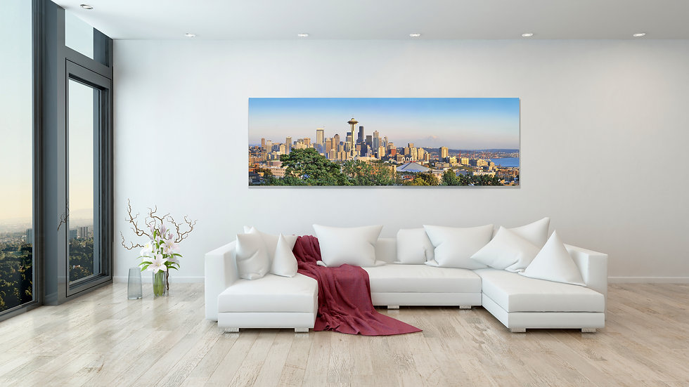 Seattle Panoramic 24x9 Inches
