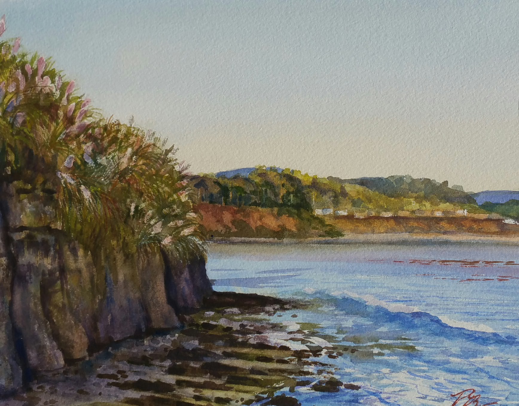 Evening at the Break_Peggy Wynne Borgman_watercolor_9 x 12