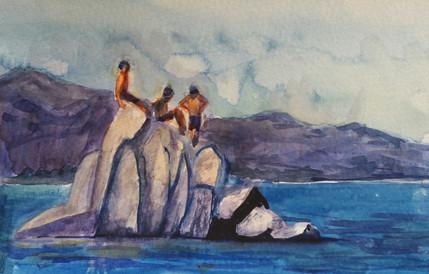 Boys on the Rocks, Tahoe