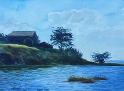 Corcoran Lagoon Santa Cruz by Peggy Wynne Borgman