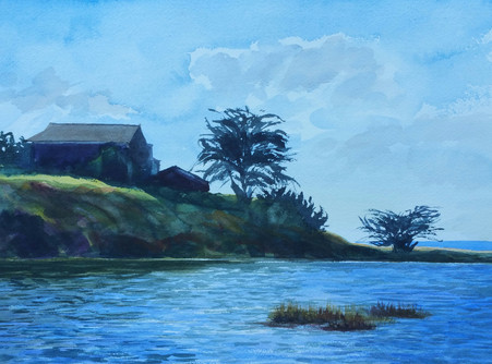 Corcoran Lagoon Santa Cruz by Peggy Wynn