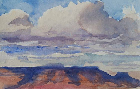 Cloud shadows, Grand Canyon