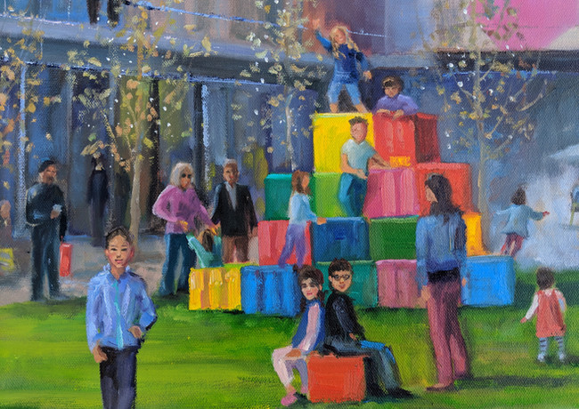 City Center Bishop Ranch Live Event Painting