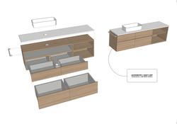 3D Digital Model    Developed Design   Furniture - En suite master bathroom