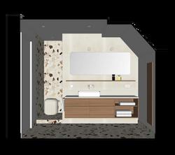 3D Digital Model    Developed Design   En suite master bathroom