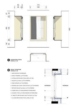 Window Details - Project | Scale 1:10 | Technical Design