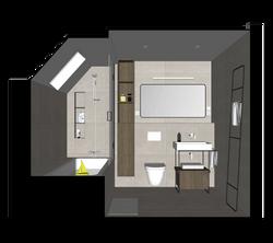 3D Digital Model    Developed Design   Guest bathroom
