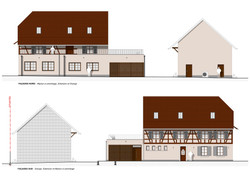 Elevations (North & South) - Project | Scale 1:100 | Technical Design