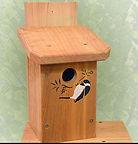 Winter woodworks chickadee house.JPG