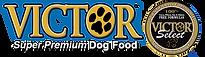victordogfood-logo blue drop shadow w-o