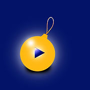 yellow xmas ball on blue background DP_1