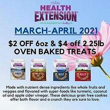 Health Extensions Oven Baked treats-Apri