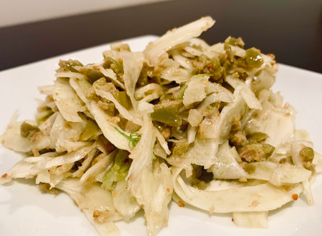 Shaved fennel and olive salad