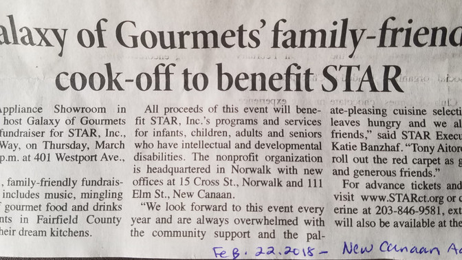 STAR Inc Galaxy Gourmet in New Canaan Advertiser