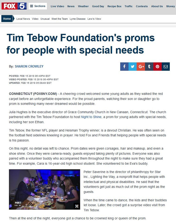 Tim Tebow Foundation's proms for people with special needs