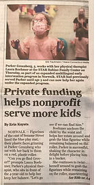 Pg. 1 Stamford Advocate article STAR Ear