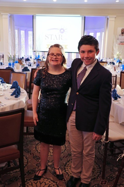 Molly (who was a featured speaker that evening) and brother Peter Cioffi of New Canaan