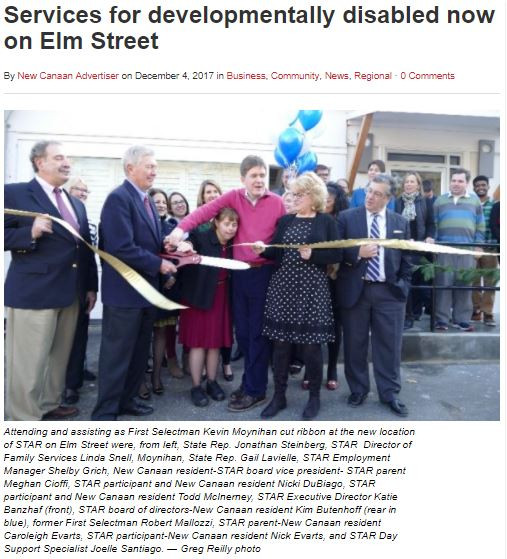 "The New Canaan Advertiser: ""Services for developmentally disabled now on Elm Street"""