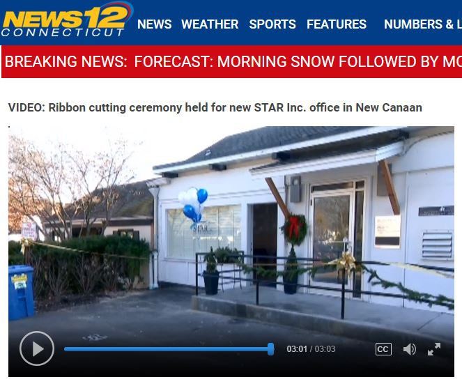 NEWS 12: Ribbon cutting ceremony held for new STAR Inc. office in New Canaan