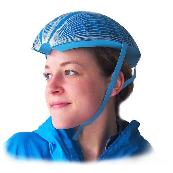 EcoHelmet folding recyclable helmet
