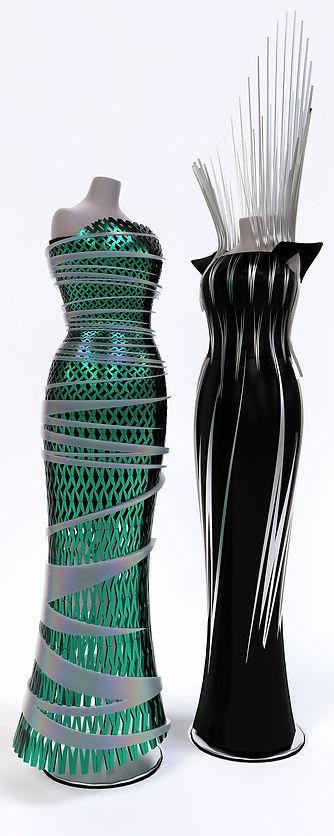 Modular dresses.