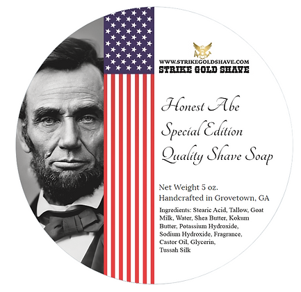 Honest Abe Shave Products ..