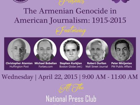 Panel: The Armenian Genocide in American Journalism, 1915-2015
