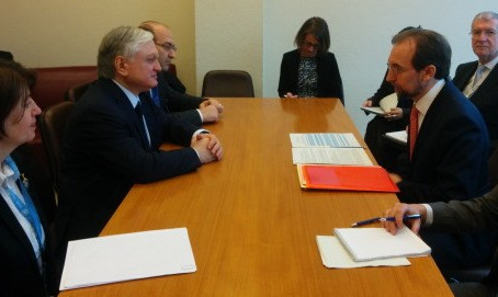 Armenian Foreign Minister Meets with UN High Commissioner for Human Rights to Discuss Syrian Refugee