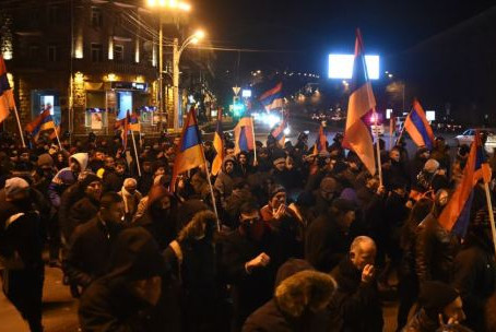 Protesters Gather in Yerevan, Claim Fraud In Armenian Referendum