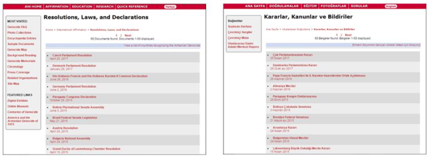 Affirmation List - Turkish and English