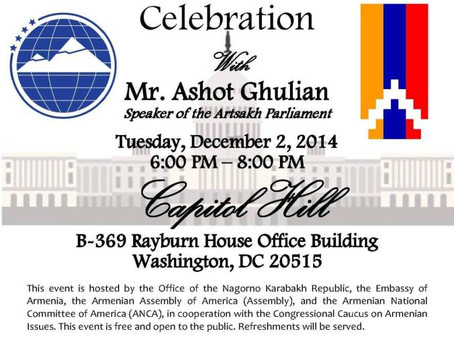 Annual Capitol Hill Celebration of Artsakh's Independence