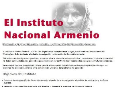 Sitio Web Del Instituto Nacional Armenio Disponible En Español