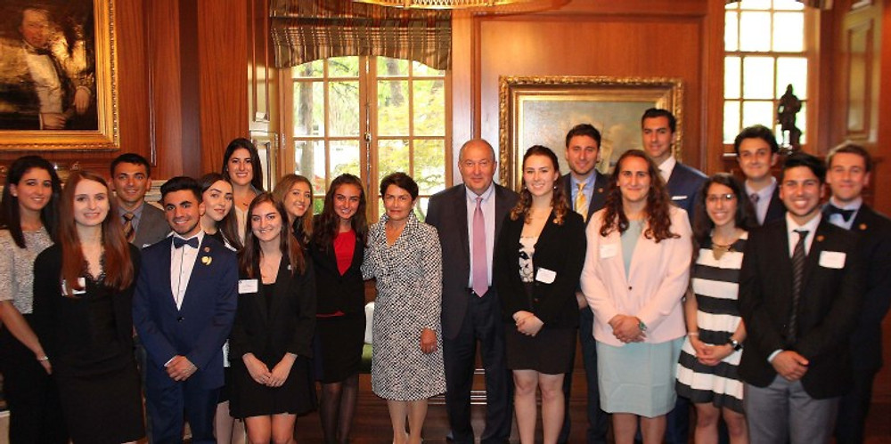President Sarkissian with Interns.jpg