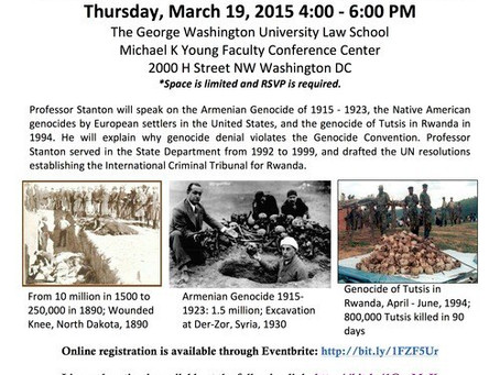Knights of Vartan Ani Lodge to Hold Final Lecture Marking the 100th Anniversary of Armenian Genocide