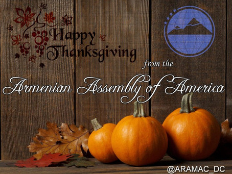 Happy Thanksgiving from the Armenian Assembly of America!