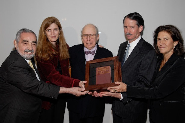 Hirair Hovnanian, Samantha Power, Henry Morgenthau III, John Evans, Carolyn Mugar 2