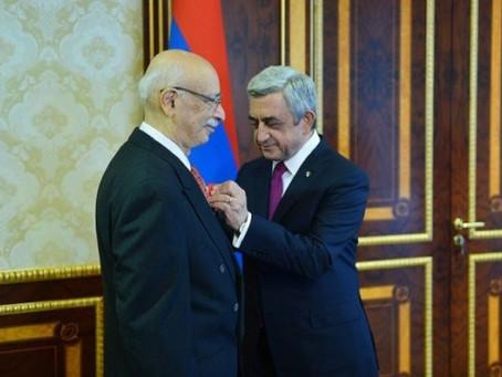 President Sargsyan Awards Medals to Howard Karagozian Memorial Foundation