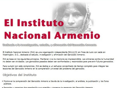 Armenian National Institute Website Available in Spanish