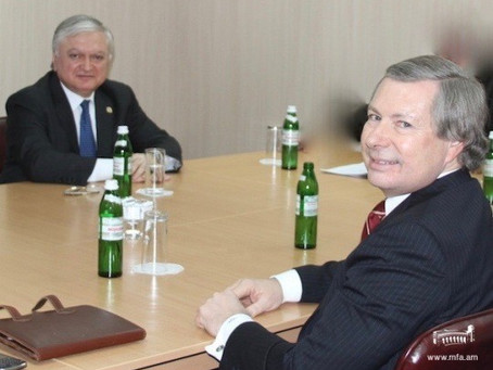 Nalbandian and OSCE Minsk Group Co-Chair Warlick Meet in D.C.