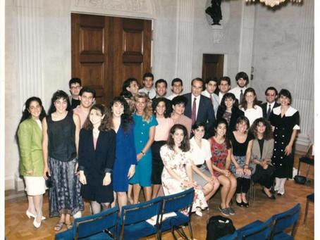 1991 Photo of Senator Bob Doyle with Armenian Assembly Interns