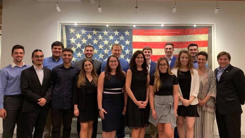Elise Aronson and 2019 interns