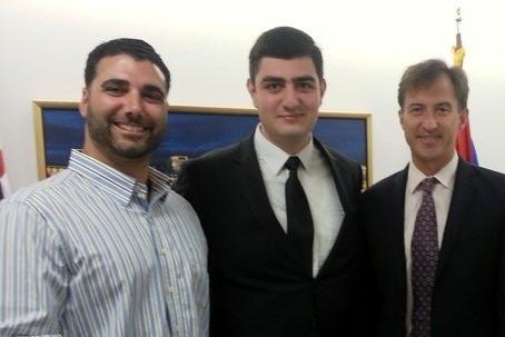 Armenian Assembly staff meets with Ardzagank analyst George Tumasyan