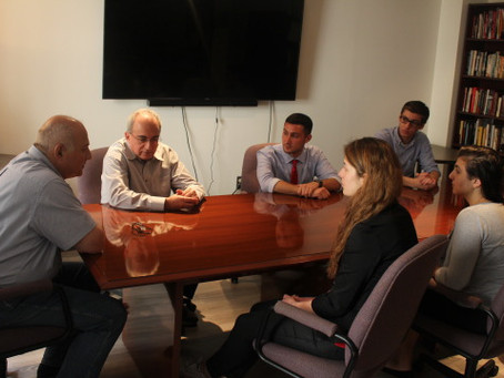 Smithsonian Guest Scholar from Armenia Dr. Marutyan Speaks with Armenian Assembly Interns